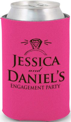 Totally Wedding Koozie - engagement party design