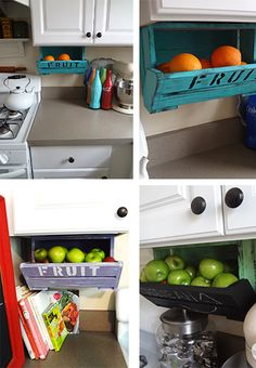 What an easy way to free up counter space! Fruit, bread, snacks ...