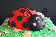 Ladybug shaped cake