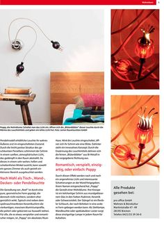 In the report on innovative light concepts, the real estate magazine of Sparkasse Bremen (Bremen savings bank) presents luminaires by serien.lighting.