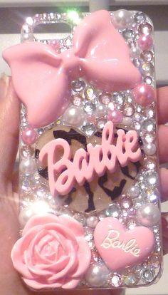 barbie phone case i phone 4 4s 5 5C 5S by BlingBlingBySharynxx