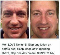 Men LOVE Nerium! Simple to use, amazing results! Beautifulbenefits.Nerium.com