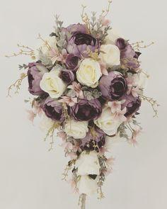 Peony Flower, Flowers, Dusty Purple, Cream Roses, Peonies, Bouquets, Floral Wreath, Wreaths, Bridal