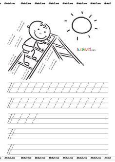 thumbnail of DİK TEMEL HARFLER ÇİZGİ ÇALIŞMALARI 4 Printable Preschool Worksheets, Tracing Worksheets, Kindergarten Worksheets, Preschool Activities, Pre Writing, Kids Writing, Preschool Painting, Alphabet Coloring Pages, School Lessons