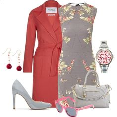 Red pink and grey by dgia on Polyvore featuring McQ by Alexander McQueen, MaxMara, Zara, Steve Madden, Betsey Johnson, womens clothing, womens fashion, women, female and woman
