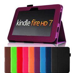 "Fintie (Purple) Slim Fit Leather Case Cover Auto Sleep/Wake for Kindle Fire HD 7"" Tablet (will only fit Kindle Fire HD 7"") - 9 colors options by Fintie, http://www.amazon.com/dp/B0098F5Y68/ref=cm_sw_r_pi_dp_ouAdrb008NFJ7"