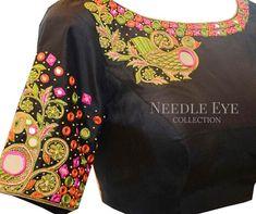 Net Blouse Designs For Silk Sarees
