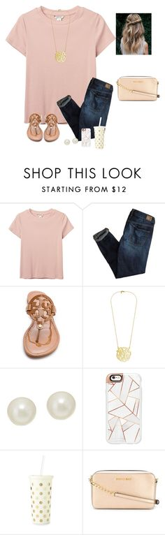 """Question of the day #13"" by raquate1232 ❤ liked on Polyvore featuring Monki, American Eagle Outfitters, Tory Burch, Honora, Casetify, Kate Spade and MICHAEL Michael Kors"