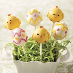 Easter Cake Pops! Get them at www.mackenzieltd.com