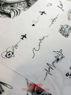 """20 Minimalist Travel Tattoo Design - """"Amazing Tattoo First Starts With . - 20 minimalist travel tattoo designs – """"Amazing tattoo starts with a high quality drawing …"""" - Henna Tattoo Designs, Mandala Tattoo Design, Tattoo Ideas, Tattoos Friends, Mini Tattoos, Small Tattoos, White Tattoos, Unique Tattoos, Cool Tattoos"""