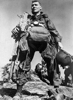 American paratrooper 1945 by Robert Capa.