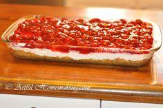Artful Homemaking: Cherry Cheesecake Dessert {No Baking Required!}