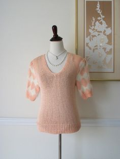 Women Clothing Vintage Top/Tees Handknit - pinned by pin4etsy.com