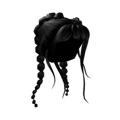 Bow Braids & Wispy Bangs - Roblox Roblox Shirt, Roblox Roblox, Blonde Braids, Black Braids, Popular Hairstyles, Girl Hairstyles, Black Hair Roblox, Winter Blonde, Black Hair Aesthetic