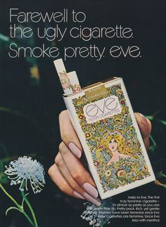 1970s Eve Cigarettes Ad Vintage Advertising Art by AdVintageCom