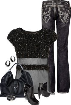 """midnight sparkle"" by fluffof5 on Polyvore"