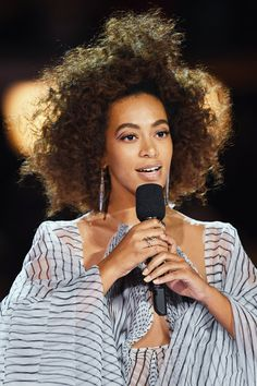 Solange Knowles, performs during The 59th GRAMMY Awards at STAPLES Center on February 12, 2017 in Los Angeles, California