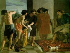 Joseph's Bloody Coat Brought to Jacob  1630 (120 Kb); Oil on canvas, 223 x 250 cm (87 3/4 x 98 3/8 in); Monastery of San Lorenzo de El Escorial