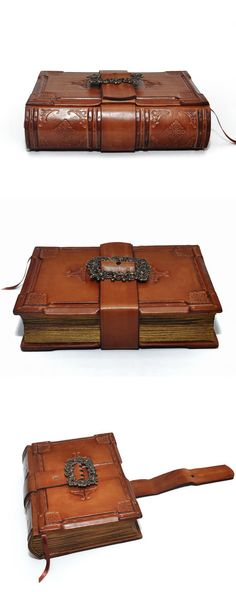 A knight's journal handmade brown leather journal. $135.00