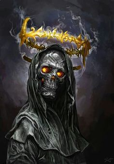 Beautiful Science Fiction, Fantasy and Horror art from all over the world. Grim Reaper Art, Don't Fear The Reaper, Grim Reaper Images, Fantasy Kunst, Dark Fantasy Art, Art Harley Davidson, Badass Skulls, Ghost Rider, Clown Tattoo