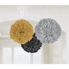 Hollywood Assorted Fluffy Decorations | 3ct