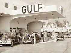 Ultra modern looking Gulf station