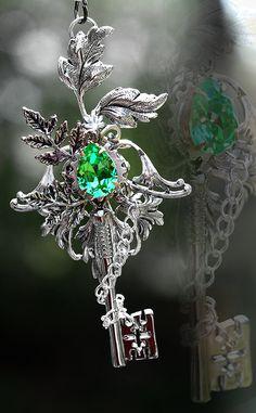 "Keys & Locks:  ""Nature's Spirit #Key Necklace,"" by KeypersCove, at deviantART."