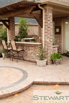 At Stewart Land Designs we specialize in the design and installation of custom pools, irrigation, lighting, pavers, retaining walls and water features. Outdoor Rooms, Outdoor Living, Outdoor Decor, Outdoor Furniture, Patio Roof, Backyard Patio, Cozy Patio, Custom Pools, Backyard Retreat