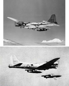 B-17 carries and tests JB-2s, an American copy of the German V1 flying bomb, date unknown