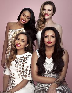 'We just clicked instantly,' said Jesy Nelson of her Little Mix bandmates (pictured from clockwise: Leigh-Anne Pinnock, Perrie Edwards, Jesy and Jade Thirlwall) Jesy Nelson, Perrie Edwards, Hottest Female Celebrities, Girl Celebrities, Celebs, Celebrity Gossip, Celebrity Photos, Celebrity Style, Justin Bieber