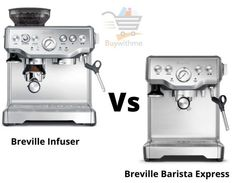 Breville Infuser vs Barista Express - Check & get the best one Gaggia Espresso Machine, Breville Espresso Machine, Espresso Machine Reviews, Maker Labs, Best Espresso, Stainless Steel Material, Latte Art, Better One, Wood Cutting