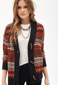 Striped Toggle Cardigan | Forever 21 Canada