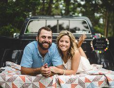 |Chase & Megan| #engagements #summer #oldtrucks #lovebirds www.facebook.com/kdentonphotography