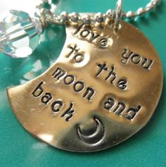 love you to the moon and back necklace.