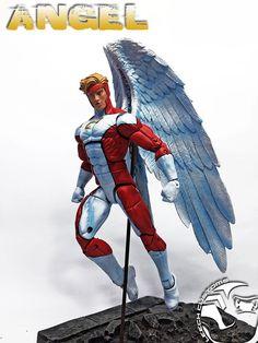 "Custom Marvel Legends ANGEL 6"" Figure by LEECH Customs | Toys & Hobbies, Action Figures, Comic Book Heroes | eBay!"