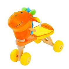 Baby walker or runner from 10 months to 3 years. Made with wooden stand, plastic wheels and head donkey plush fabric. Ride On Toys, Donkey, Tweety, Skateboard, Plush, Fabric, 3 Years, Cart, Wheels