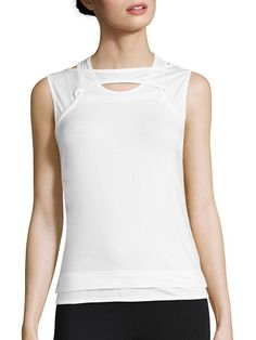 "On SALE at 48% OFF! nomadic two-layered tank by Y-3. Chic cutout tank in modern two layered design. Crewneck. Pullover style. Ribbed hem. About 24"" from shoulder to hem. ..."