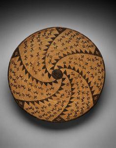 Ceremonial Basket with Spiral Design, c. 1910