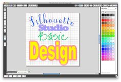 How to use some of the basic design tools for Silhouette (weld, group, offset, etc.)