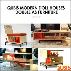 Qubis - Amy Whitworth's Modern Doll Houses That Double As Furniture.