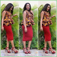Ankara Dress Styles, African Fashion Ankara, Latest African Fashion Dresses, African Dresses For Women, African Print Fashion, African Tops, Ankara Tops, African Style, African Print Dress Designs