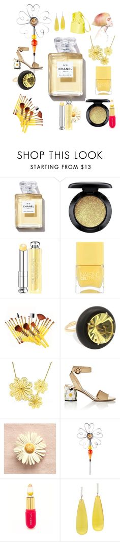 """""""Classic Spring"""" by rosalindmarshall ❤ liked on Polyvore featuring beauty, MAC Cosmetics, Christian Dior, Nails Inc., NOL Jewellers, Arabel Lebrusan, Prada, Glitzhome, Winky Lux and Michael Kanners"""