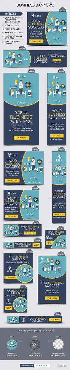 Business Banners Template #design Download: http://graphicriver.net/item/business-banners/12155131?ref=ksioks