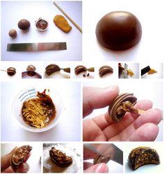 Tuto bijoux gourmands : Chocolat fourré | Bijoux sucrés, Bijoux fantaisie, Bijoux gourmands, Pâte Fimo, Nail Art et Miniatures gourmandes