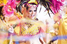 Las modelos debieron cumplir con los roles de los diferentes personajes del carnaval y al final posar para la comparsa con su toque personal