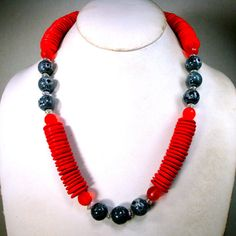 Hey, I found this really awesome Etsy listing at https://www.etsy.com/se-en/listing/489499528/handmade-tribal-red-black-clear-bead