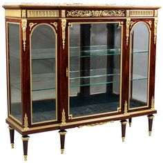Gilt Bronze Mounted Kingwood Vitrine  By François Linke | From a unique collection of antique and modern cabinets at http://www.1stdibs.com/furniture/storage-case-pieces/cabinets/