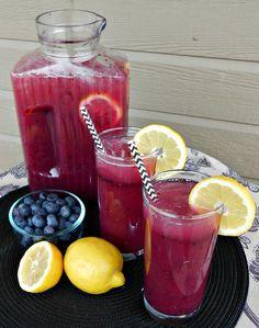 Blueberry Lemonade Pina Colada Party Punch (Non-alcoholic)