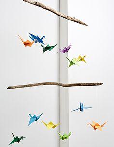 DIY - Mobile mit Origami-Kraniche - Anleitung - Wohnungsdekoration I blog.moemax.at