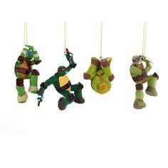 TMNT Ninja Turtles Kurt Adler Ornament Set Gift Boxed -- Tried it! Love it! Click the image. : Ornaments Home Decor